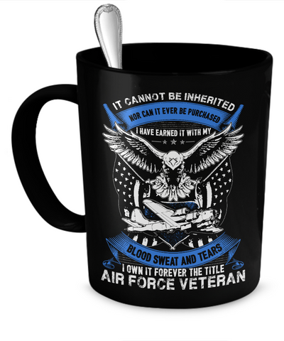 Air Force Veteran Mug (Black)
