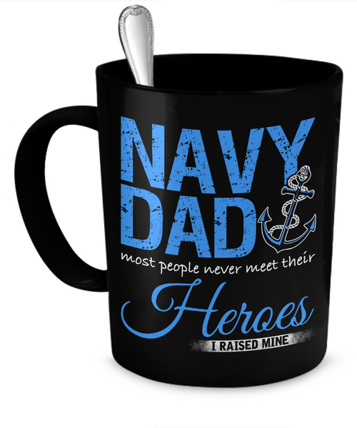 Proud Navy Dad Mug (Black)