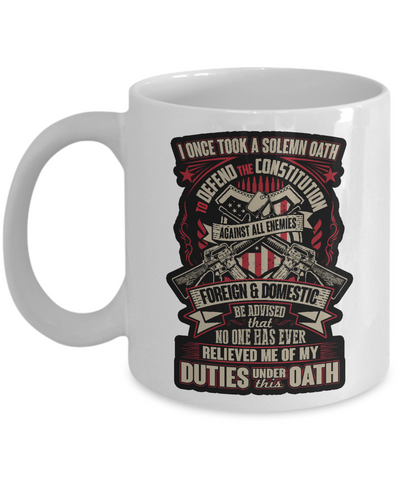 Proud Veteran Mug (White)