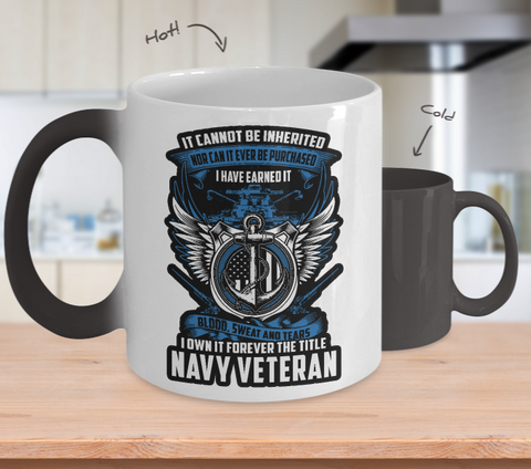 Navy Veteran Color Changing Mug