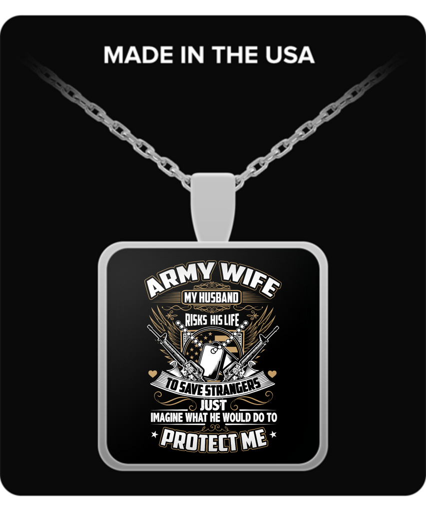 Army Wife Pendant Necklace