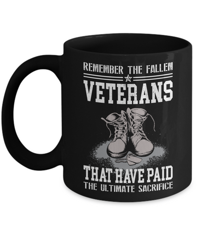 Remember Veterans Coffee Mug