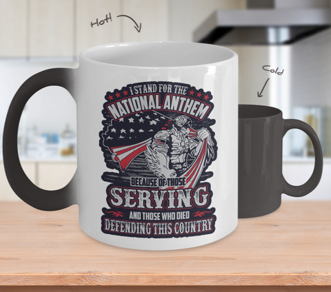 I Stand For The National Anthem Color Changing Mug