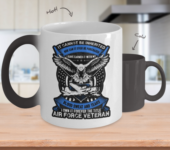 Air Force Veteran Color Changing Mug