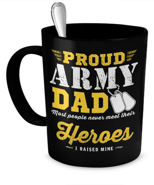 Proud Army Dad Mug (Black)
