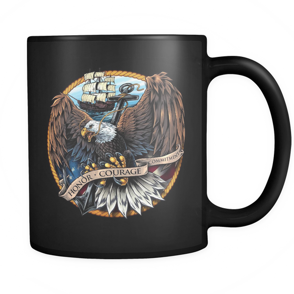 Navy Eagle Coffee Mug (Black)