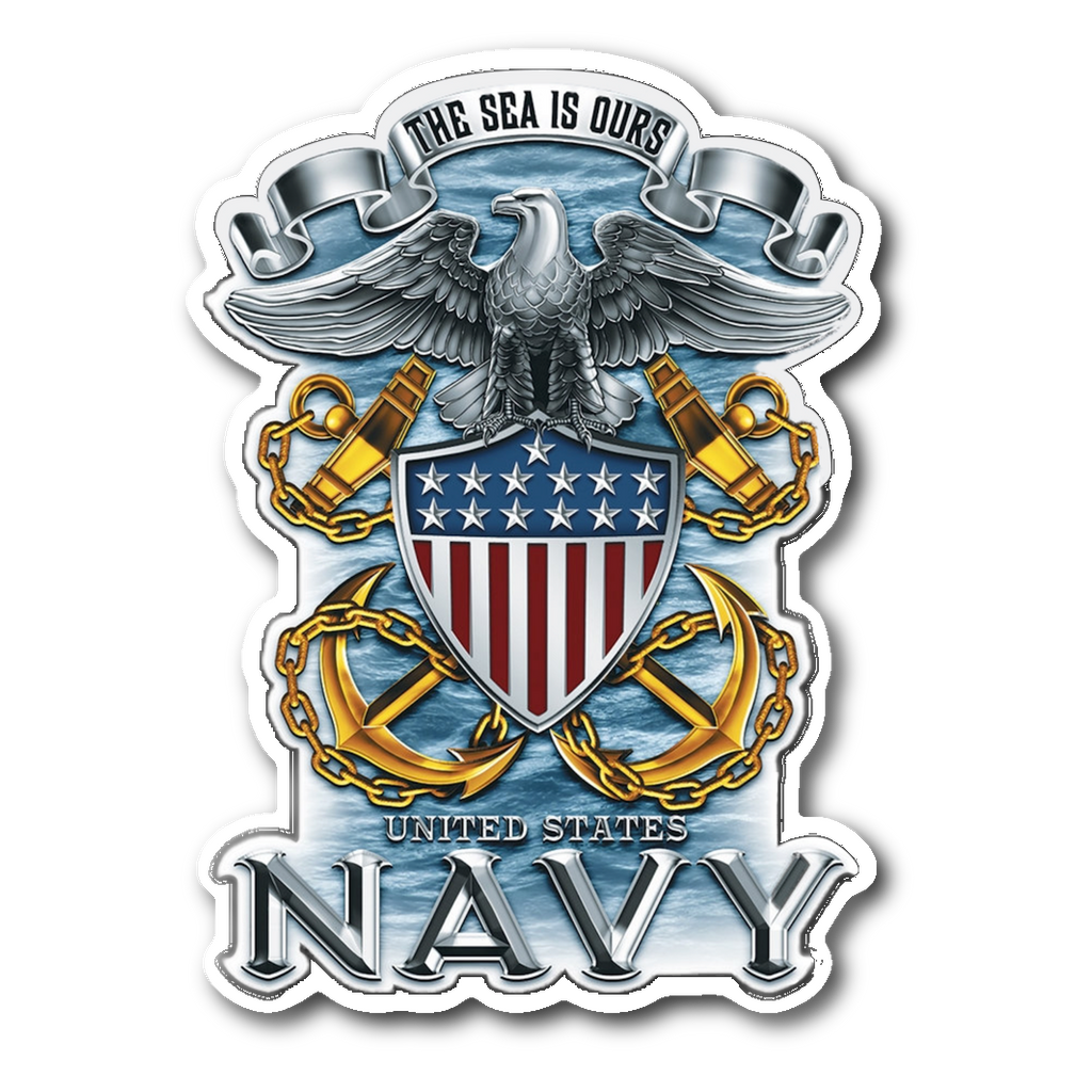 US Navy The Sea is Ours Navy Decal