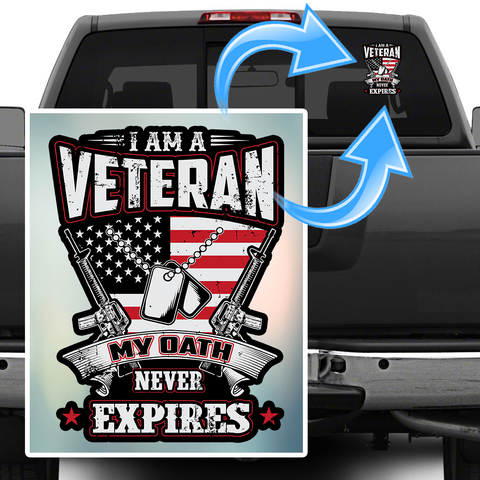 "My Oath Never Expires Decal 7"" inch with FREE SHIPPING!"