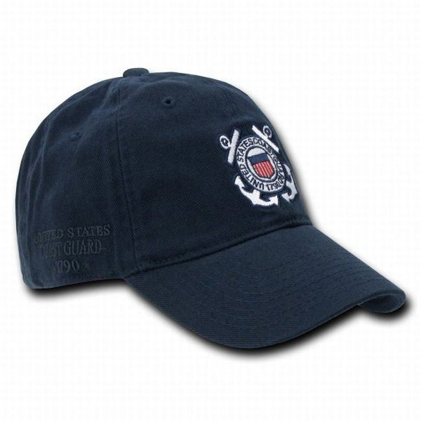 Navy Blue United States US Coast Guard Polo Baseball Ball Cap