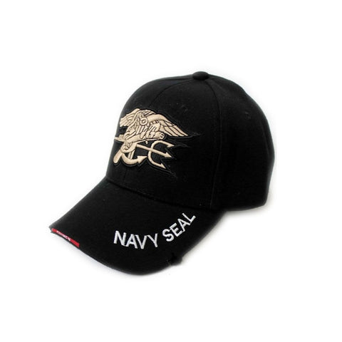 Original New Black Military Embroidered US Navy Seal Baseball Cap