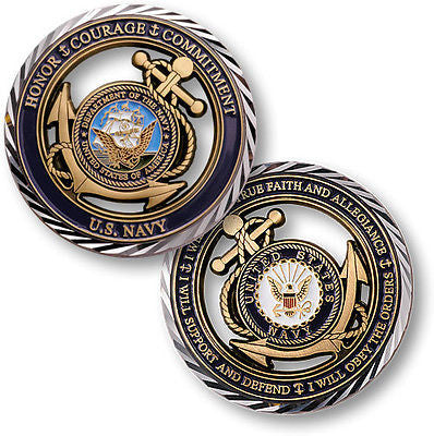 U.S. Navy / Core Values - USN Challenge Coin