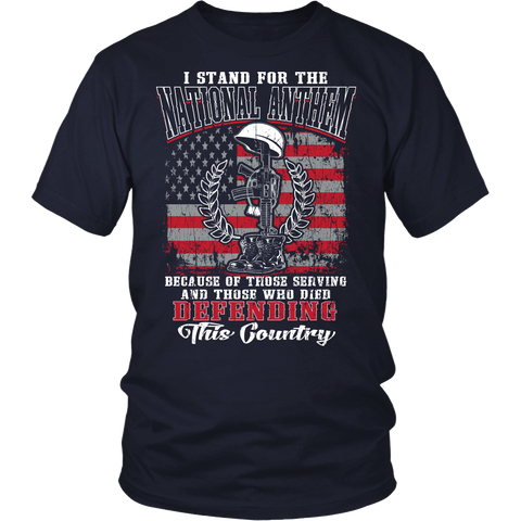 I Stand For The National Anthem v2 T-shirt