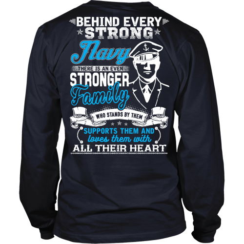Behind Every Strong Navy T-shirt
