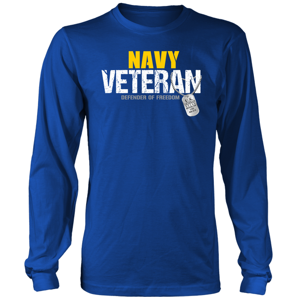 Navy Veteran - Defender of Freedom Long Sleeve Shirt