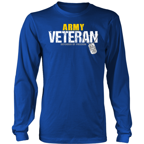 Army Veteran - Defender of Freedom Long Sleeve Shirt