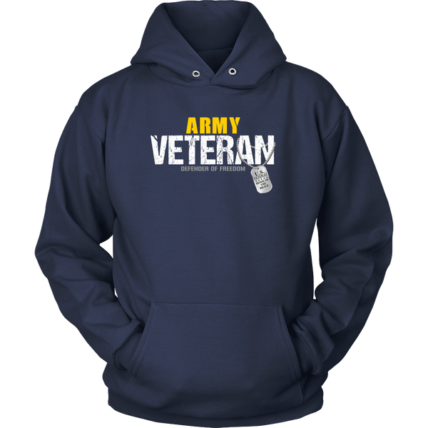 Army Veteran - Defender of Freedom Hoodie