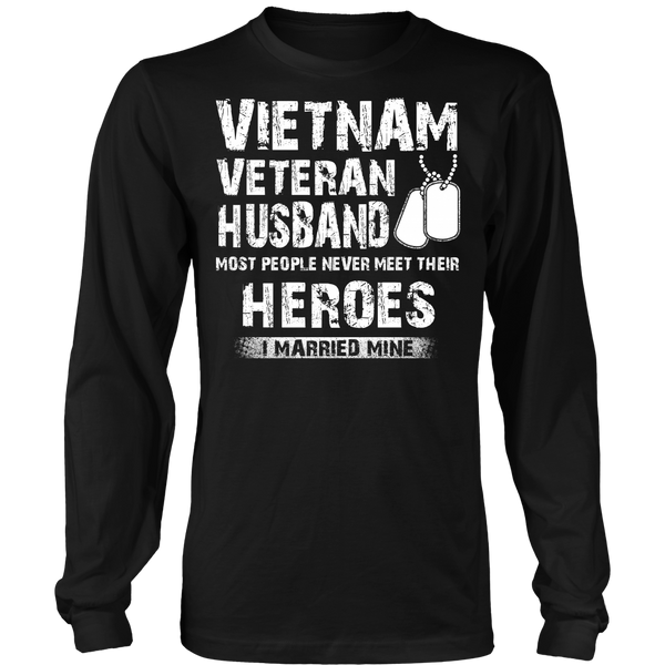 Proud Vietnam Veteran Husband T-shirt