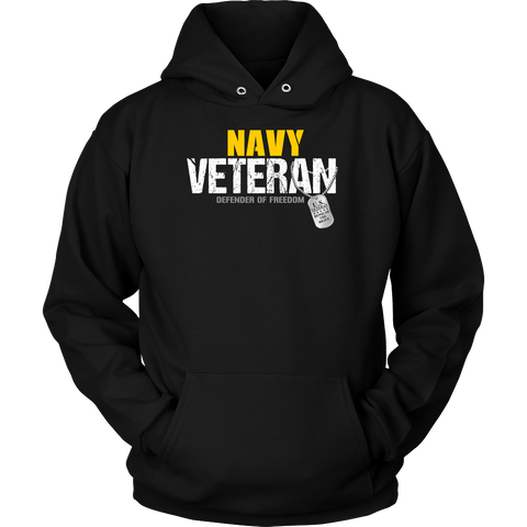 Navy Veteran - Defender of Freedom Hoodie