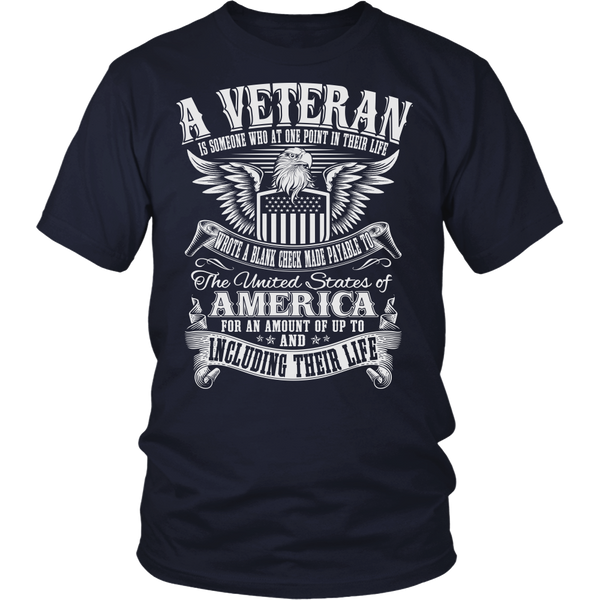 A Veteran Is Someone T-shirt