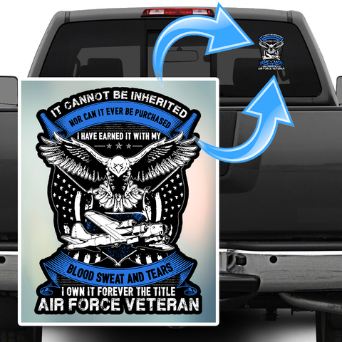 Air Force Veteran Decal with FREE SHIPPING!