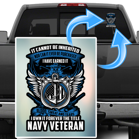 Navy Veteran Decal with FREE SHIPPING!