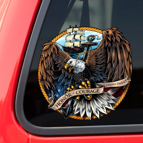 Navy Eagle Decal with FREE SHIPPING!