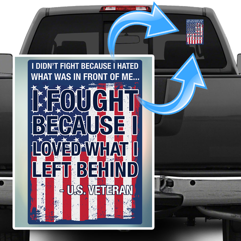 U.S. Veteran Decal with FREE SHIPPING! II