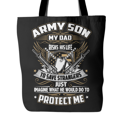 Army Son Tote Bag
