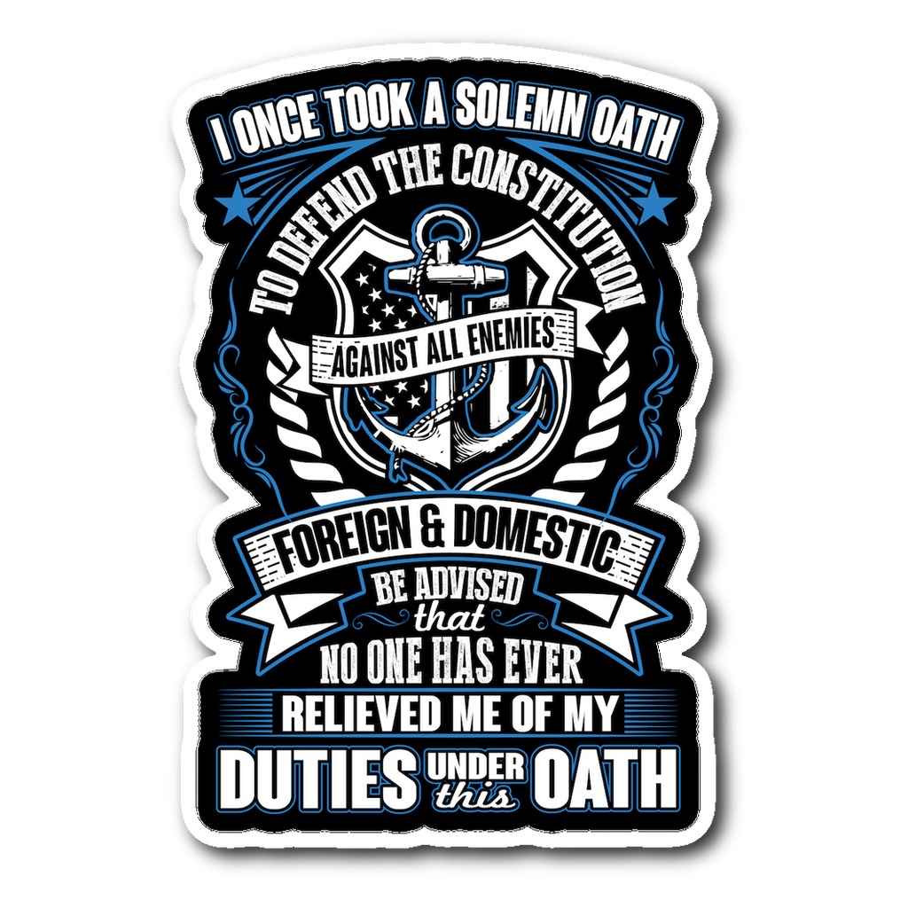 Navy Veteran Decal with FREE SHIPPING! (2nd Version)