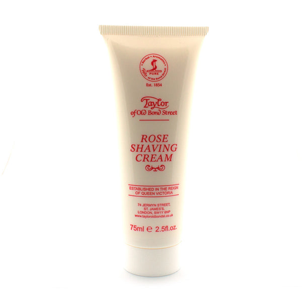 Taylor of Old Bond Street Rose Shaving Cream, 75 ml - Alpha Yard