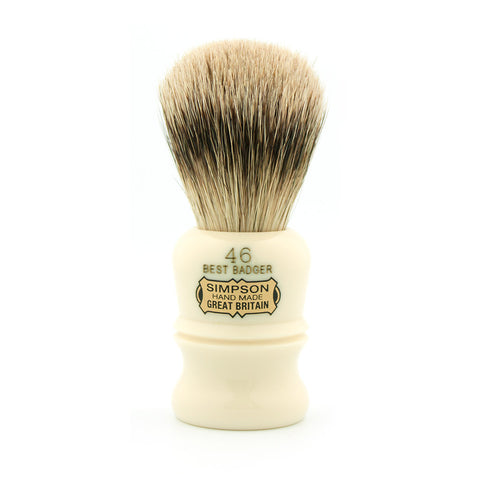 Simpson Berkeley 46, Best Badger Shaving Brush - Alpha Yard  - 1