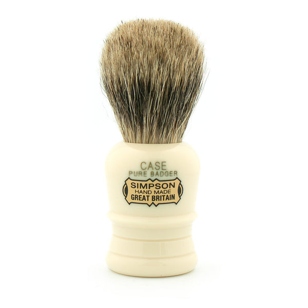 Simpson Case, Pure Badger Shaving Brush - Alpha Yard  - 1