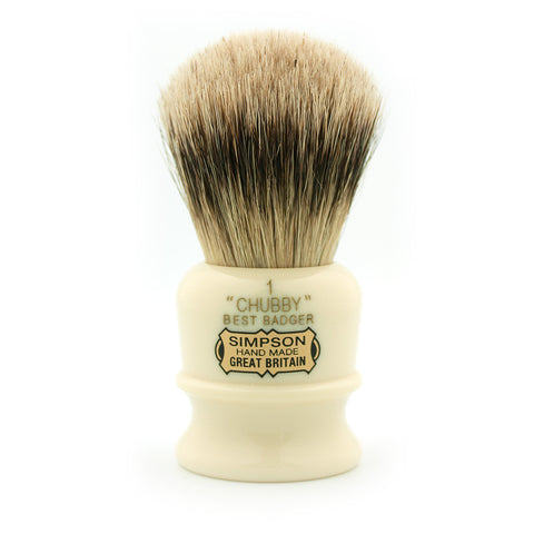 Simpson Chubby 1, Best Badger Shaving Brush - Alpha Yard  - 1