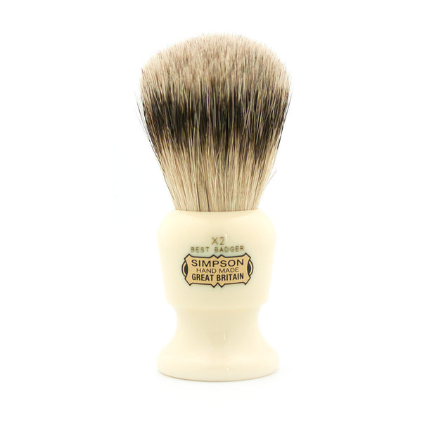Simpson Commodore X2, Best Badger Shaving Brush - Alpha Yard  - 1