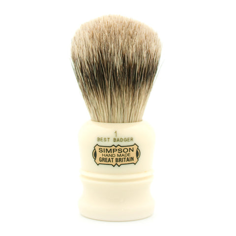 Simpson Duke D1, Best Badger Shaving Brush - Alpha Yard  - 1