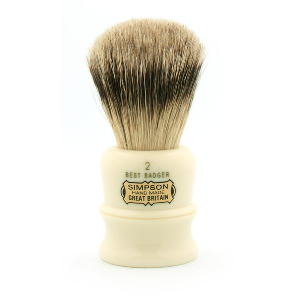 Simpson Duke D2, Best Badger Shaving Brush - Alpha Yard  - 1