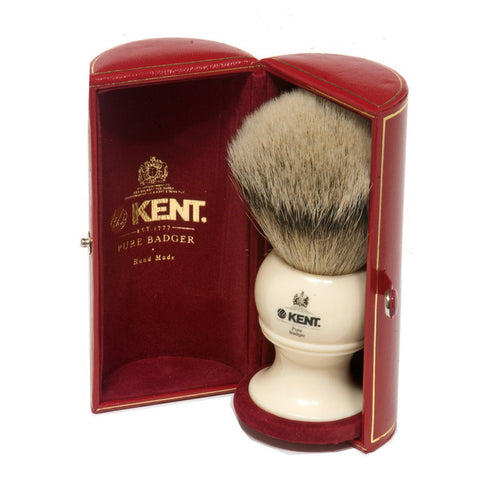 Kent BK12 Silvertip Badger Shaving Brush (Large) - Alpha Yard