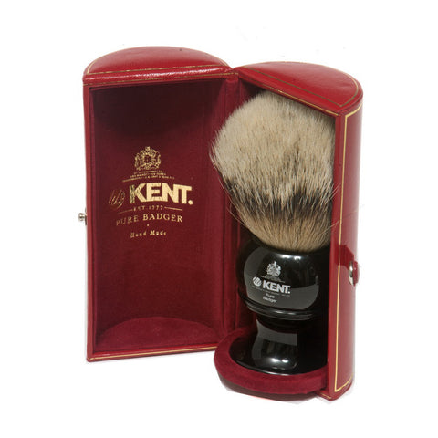 Kent BLK12 Silvertip Badger Shaving Brush (Large) - Alpha Yard