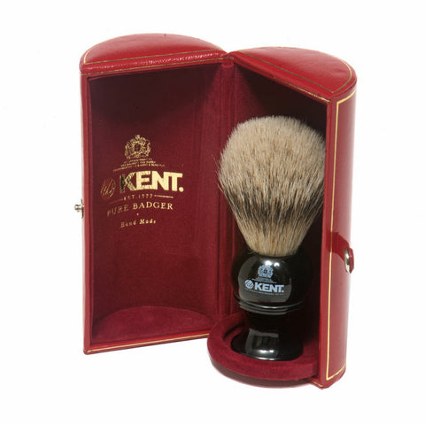 Kent BLK4 Silvertip Badger Shaving Brush (Small) - Alpha Yard