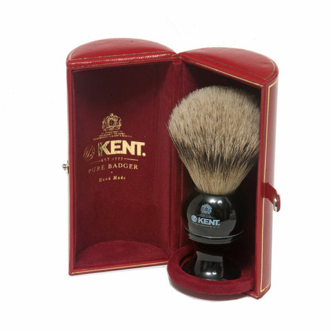 Kent BLK8 Silvertip Badger Shaving Brush (Medium) - Alpha Yard