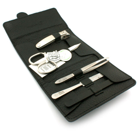 Niegeloh Capri Schwarz 5pc, Leather Manicure Set - Alpha Yard  - 1