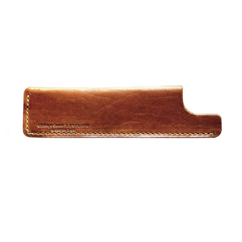 Chicago Comb Co. English Tan Horween Leather Sheath (Model 2) - Alpha Yard