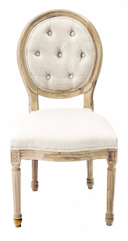 French Round Tufted Back Chair