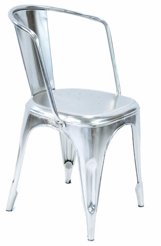 Industrial Chair with Nickel Finish