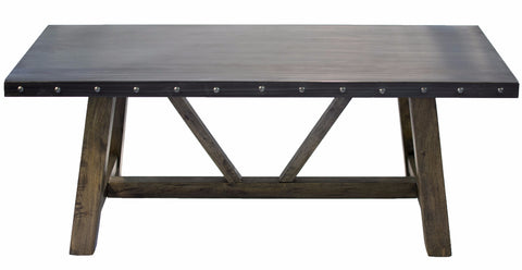 Steel Top Dining Table