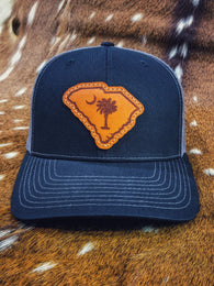 South Carolina Leather Patch Hat - Shirt Guys Bowfishing and Hunting T-Shirts