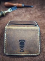 El Hefe Classic Skull Logo Haters Wallet - Brown Leather - Shirt Guys Bowfishing and Hunting T-Shirts
