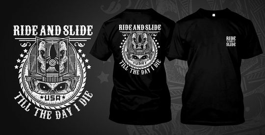 Ride and Slide printed on Black Gildan T-Shirt - Shirt Guys Bowfishing and Hunting T-Shirts