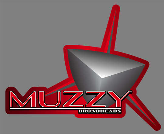 Muzzy Broadhead Red Die Cut Sticker  6