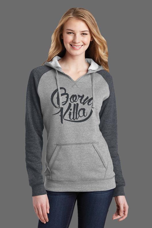 Born Killa Design - Lightweight Fleece Raglan Hoodie - - Shirt Guys Bowfishing and Hunting T-Shirts